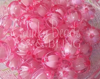 20mm Pink Watermelon Beads 10pc