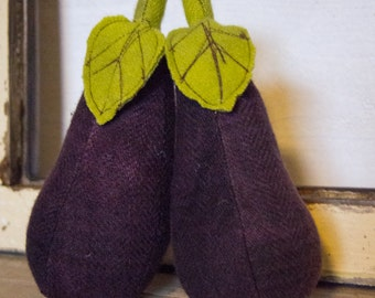 eggplant kitchen accessories eggplant centerpiece etsy 3534
