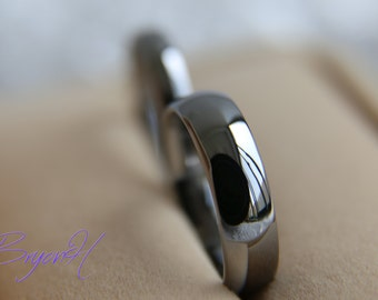 Matching Set, Tungsten Carbide Ring, Tungsten Wedding Bands Set, His And  Her Promise