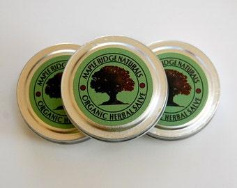Organic Herbal Salve 1oz. -Maple Ridge Soaps & Sundries
