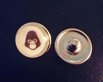2 cabochons for pressure buttons