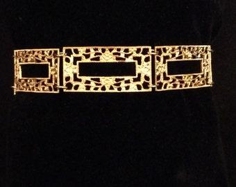 Antique Art Deco Filigree Link Bracelet