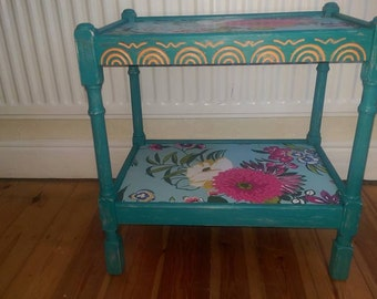 Funky shabby chic side table