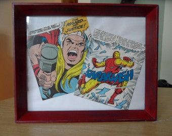 Funky Shabby Chic Marvel picture frame