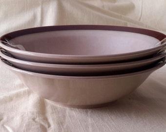 1970s Topaz Stoneware Serving Bowls