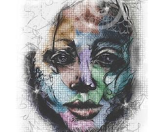 Stardust Graphic Design Print