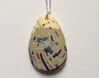 Autumn zebra pendant (medium)