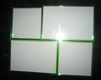 Lime Green Four Photo Offset Picture Frame