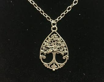 Tree of Life Silver Pendant Sterling Silver Just One Necklace
