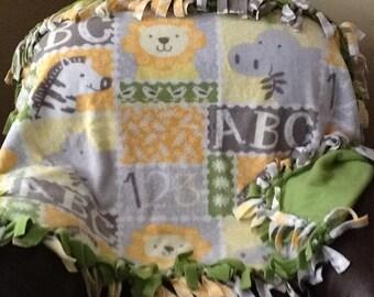 Fleece hand-tied blanket