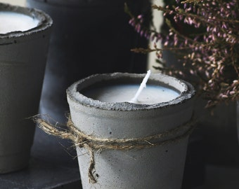 Concrete candle.