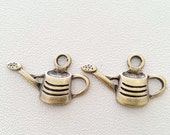 10 pcs. WATERING CAN vintage charms pendants antique bronze 15x25 mm.,accessories,bracelet,necklace,earring,jewelry,key chain,leather making