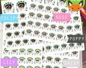Thug Payday Girls Kawaii Girls Pay Day Money Shopping Sticker Set - Planner Stickers - Planner Decorations - Kikki-K & Erin Condren