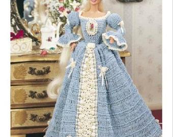"Crochet pattern Barbie dress 11 1/2"" fashion doll PDF Instant Download"