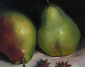 Pear'nts - Original Oil Painting by Christine Angelotta Dixon