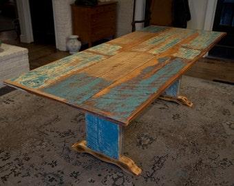 Handmade Salvaged Wood Dining Table