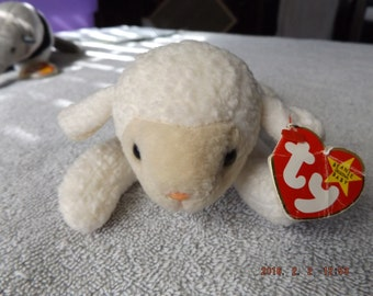 Fleece the lamb beanie baby
