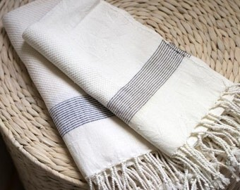 Handwoven stripe hand towel