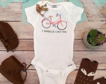 Bike Onesie®, Baby Boy Clothes, Baby Shower Gift, Boho Baby Clothes, Cute Baby Clothes, Cute Onesies, Bicycle Baby Bodysuit, Funny Onesies