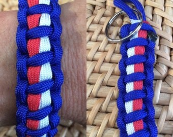 Western Bulldogs Football Club Paracord Bracelet and Keyring