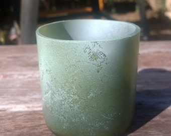 Small planter or candle holder- Sea foam green
