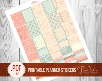 Printable Planner Sticker Set planner Stickers Printable stickers for use with Erin Condren Life Planner Stickers Planner stickers  planner