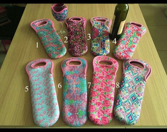 Lilly inspired wine tote