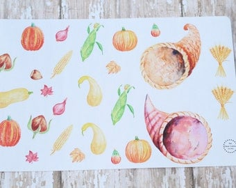 Thanksgiving Build Your Own Cornucopia Horn Of Plenty Planner Agenda Stickers