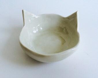 Cat Shaped Ceramic Jewelry Dish