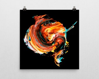 "Vibrant abstract painting Giclee print — ""Painted Skull"" // 12x12 or 18x18 // Wall art // Home decor"