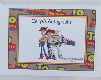 Personalised DISNEY AUTOGRAPH BOOK / Toy Story Scrapbook Album
