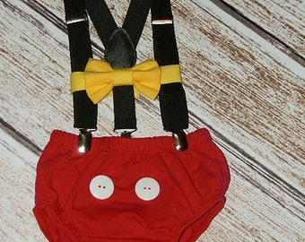 Mickey Mouse Birthday Outfit, Mickey First Birthday Cake Smash, Mickey Mouse Birthday, PLEASE READ LISTING