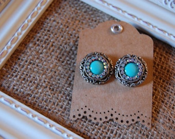 Unique Handmade Earrings- button earrings