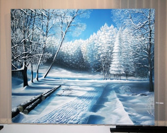"""Painting """" Winter """"  Size 150/120"""