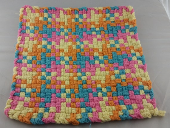 how to make cotton potholder loops