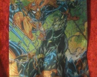 metallic spiderman comic book cover