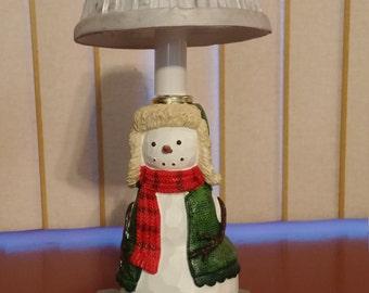 Christmas Snowman Accent Lamp