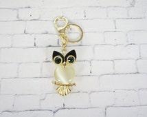 OWL tassel Rhinestone , Owl keychain, Fashion Metal Trinkets Key Chain Ring for Women Bag, Purse Charm Pendant,