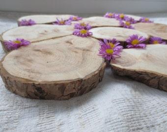 "Wedding Decorations - Wood Slices - Wood coasters 4-3.5""- Wedding Coasters  - Tree Slices - Dual core symbol of cople"