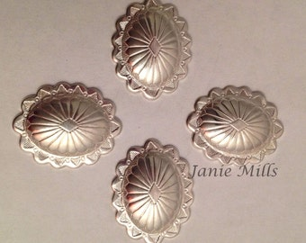 Sterling concho 17 mm x 21 mm oval
