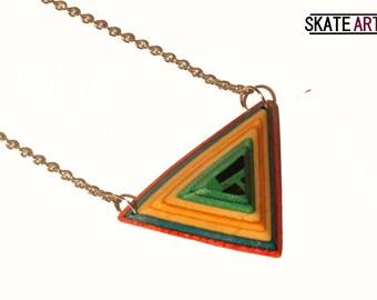 Skate & steel necklace