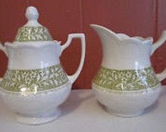 Royal Staffordshire Ironstone cream and Sugar set