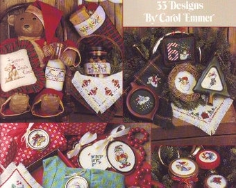 Lots of Christmas Counted Cross Stitch Leaflet by Leisure Arts in 1990