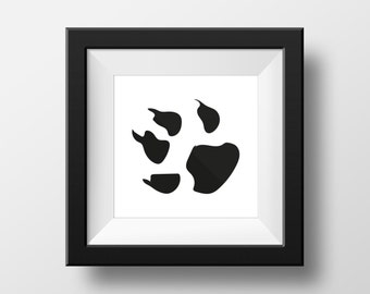 Black & White cat paw