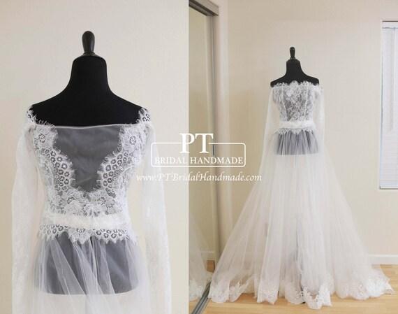 wedding dress topper off shoulder bridal bolero bridal lace With off the shoulder wedding dress topper