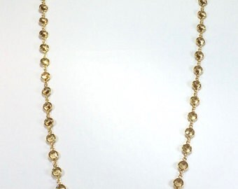 "Raindrops Necklace - Light Colorado Topaz/Gold 36"" Swarovski crystal"