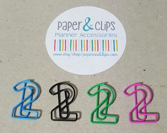 Number 2 Bookmark or Paper Clip Two