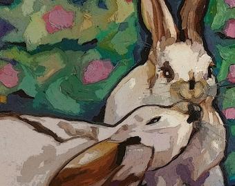 Downloadable Print Bunny Kisses