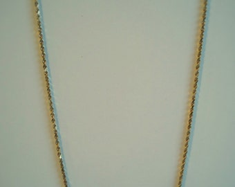 14kt Yellow Gold Rope Chain