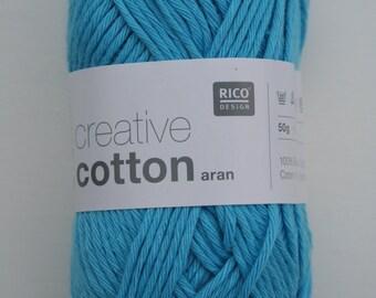 Rico Creative Cotton Aran Turquoise 036